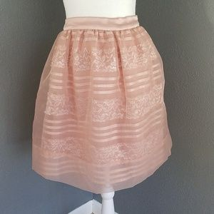 bebe Magnolia Frost New skirt 10 Lace Full A Line